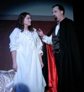 Andy Affleck as Dracula with Kaelyn Boss as Lucy Westenra